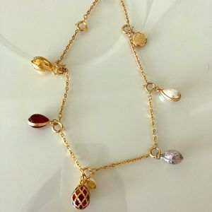 Joan Rivers faberge egg 6 charms necklace